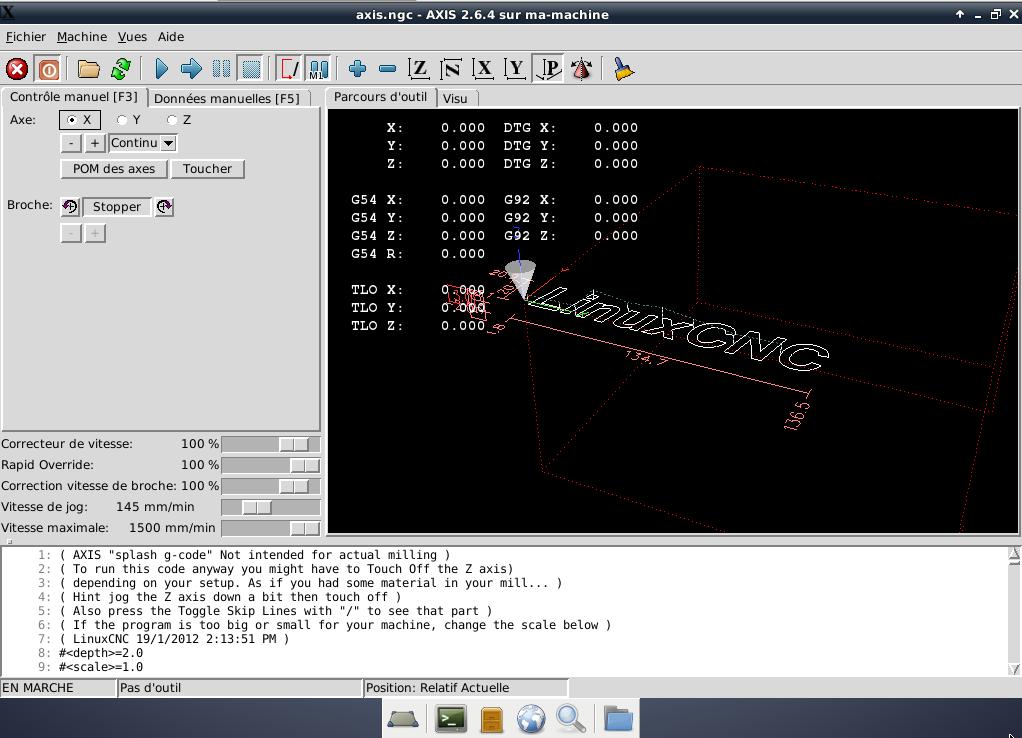 [tutoriel]Presentation et installation de LinuxCNC Axis10