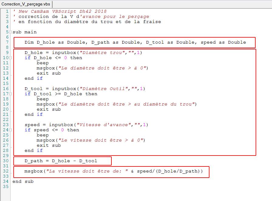 Correction vitesse d'avance pour perçage en spirale / filetage Cb_vbs10