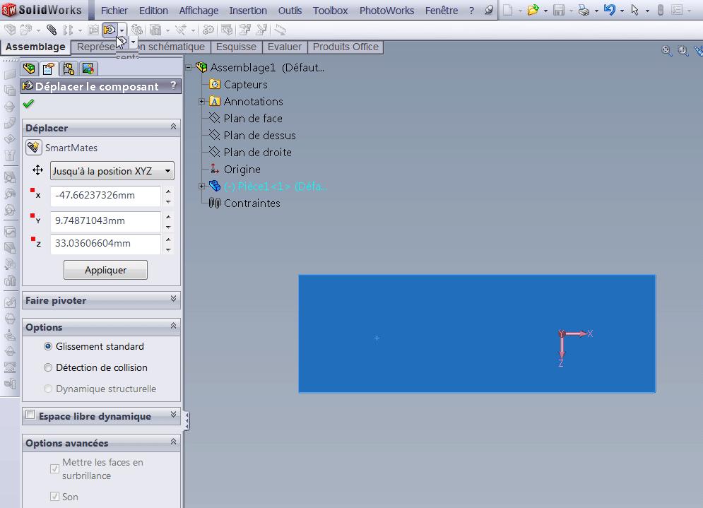 Petit soucis sous SolidWorks Deplac10