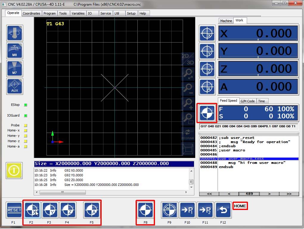 Logiciel de pilotage BZTCNC Homing10