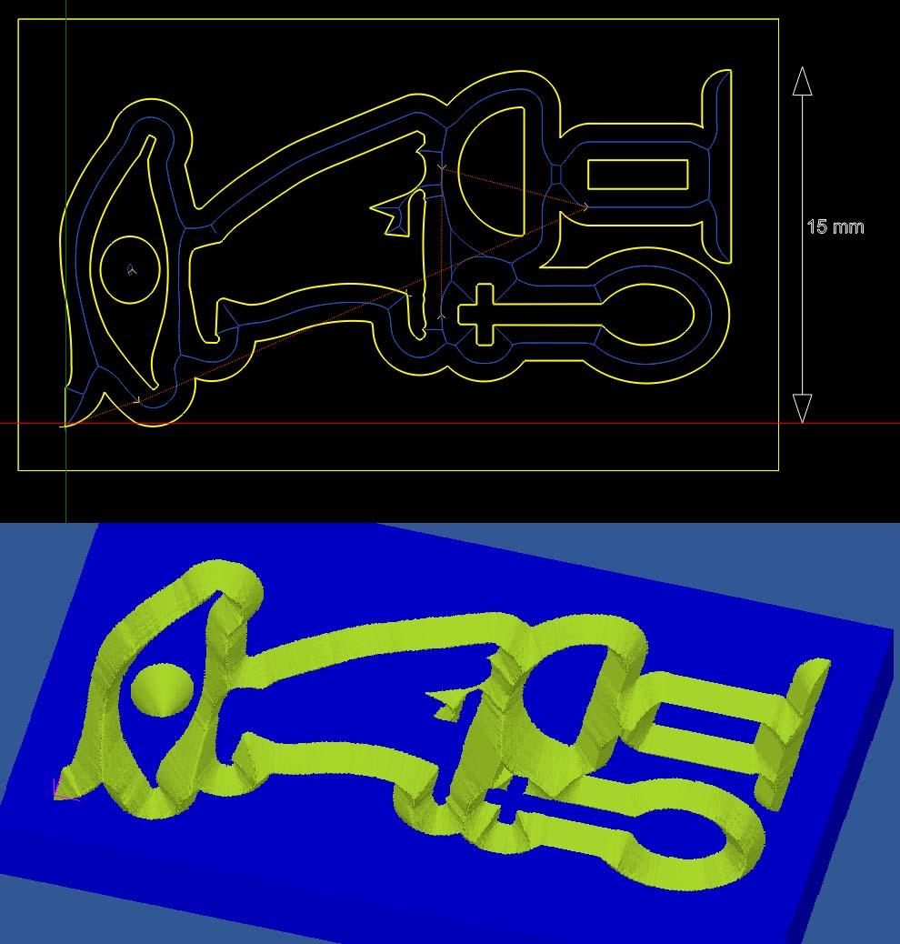 Utilisation V-Engrave et Inlay Calculator Insert10