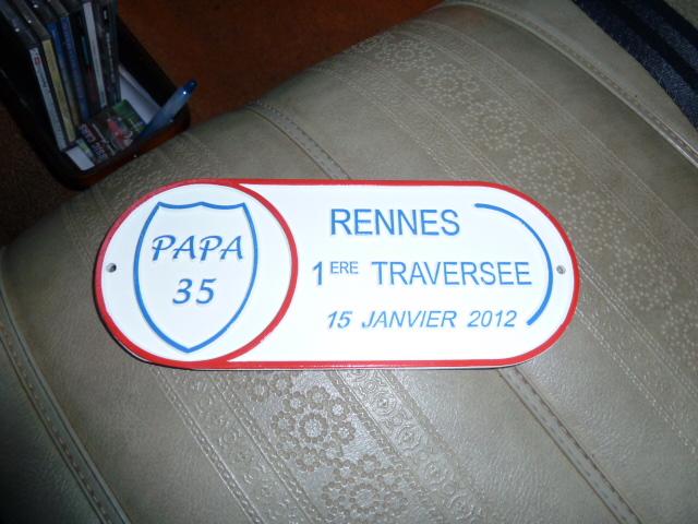 1 ère Traversée de Rennes Plaque10