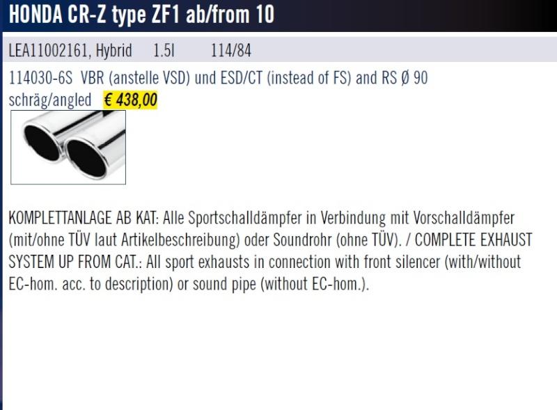 [ECHAPPEMENT][SEBRING] sort son modèle pour le CR-Z Sans_t10