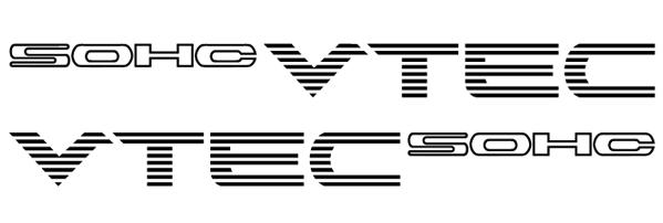 [VDS] Stickers SOHC VTEC / DOHC VTEC Sohc210
