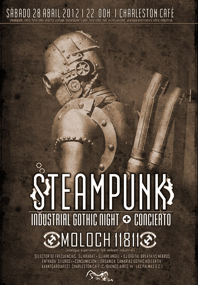 STEAMPUNK Industrial Gothic Night + Concierto MOLOCH 11811 Fiesta10