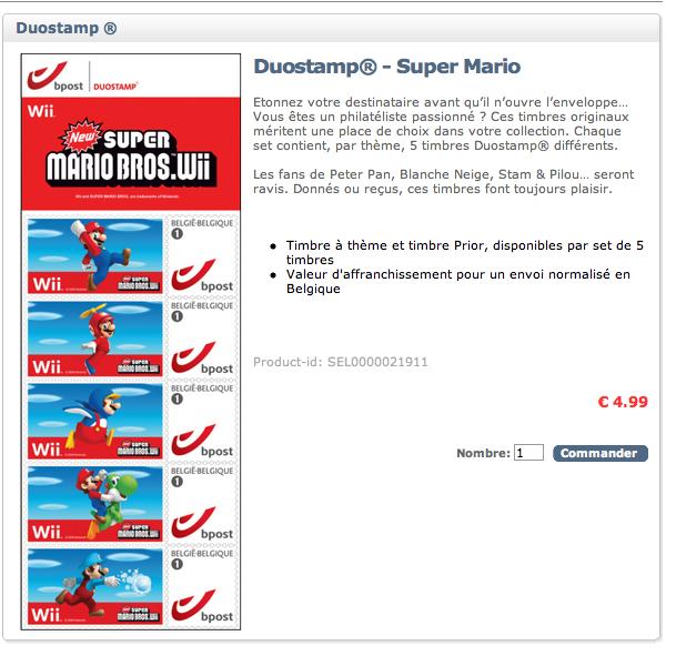 """Timbres jeux video """"Super Mario"""" pour ceux qui habitent en belgique ! Captur11"""