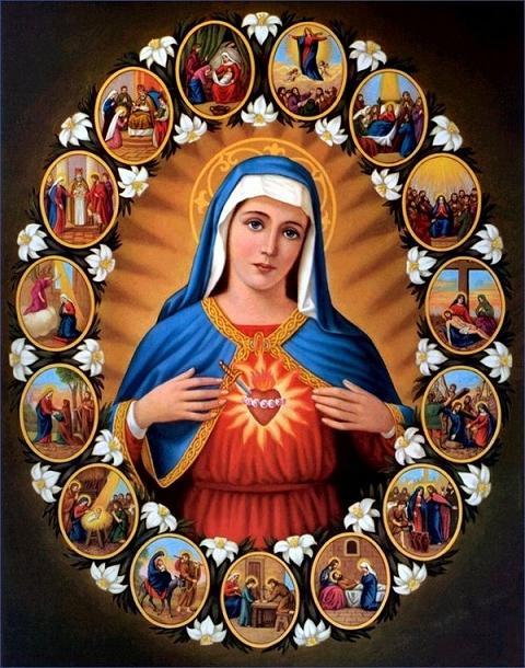 La joie de la Vierge pour la résurrection du Christ Marie244