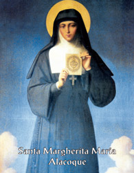 Sainte du jour :Sainte Marguerite-Marie Alacoque Sainte83