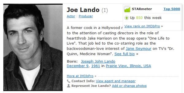 Fiche IMDb de Joe Imdb10