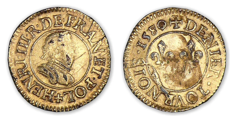 Denier tournois Henri III 1580/79 A  Henri_18