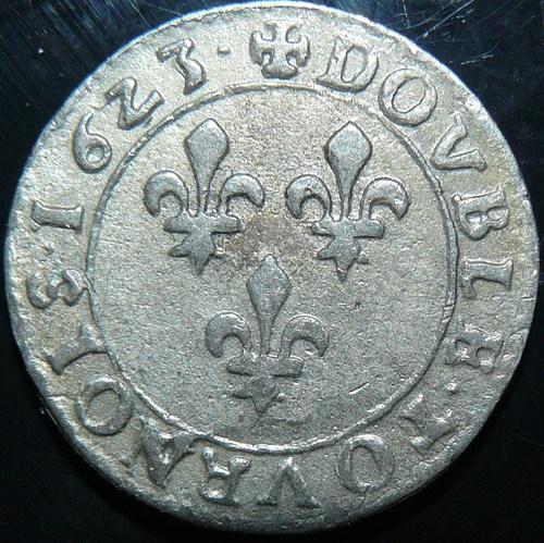 DOUBLE TOURNOIS LOUIS XIII 162? G POITIERS CGKL 412 Louis_43