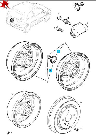 Tutorial verificare curatare sistem de franare spate Corsa C    Elemen11
