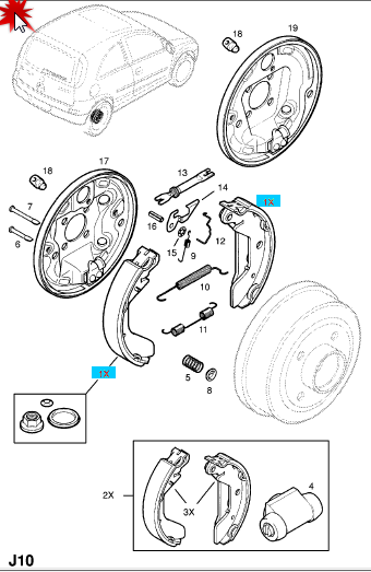 Tutorial schimbare cilindru saboti frana spate Corsa C Elemen12