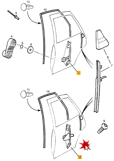 Tutorial schimbare geamuri manuale in electrice Vectra B Poziti11