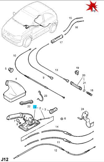 Tutorial verificare curatare sistem de franare spate Corsa C    Sistem10