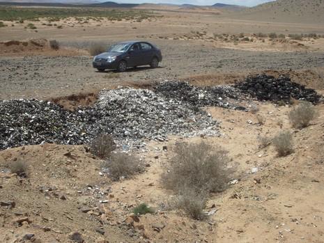 مصالح وزارة الصحة تتسبب في فضيحة بيئية بكلميم Guelmi13