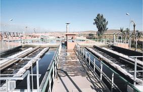 Palmeraie de Marrakech La station de traitement intègre l'arrosage  P6_9010