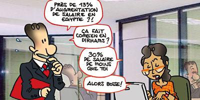 Salaires : le Maroc comparé à l'Algérie, la Tunisie et l'Egypte Salair10