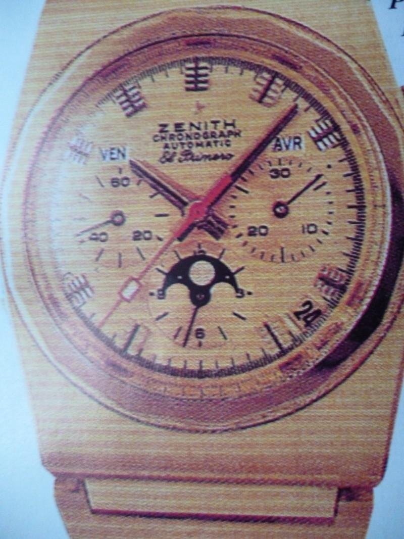 Zenith El Primero : Liste des Principaux El Primero Vintages de 1969 à 1986 ( Référence, Fabrication, Production d ) 01210