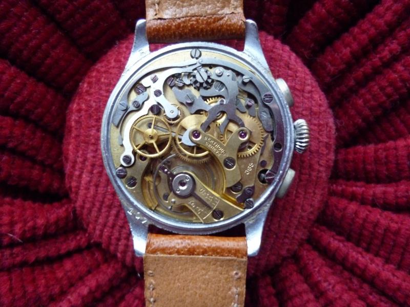 Berthoud Chronographe allias Universal Genève, calibre 385, voici mon cadeau de Noël! Bertho11