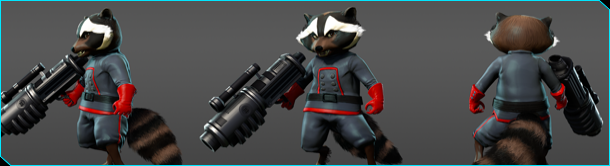 Space-faring adventurer Rocket Raccoon Joins Marvel Heroes Rocket10