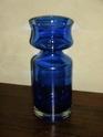 Heavy blue glass vase - identification help please P4220112