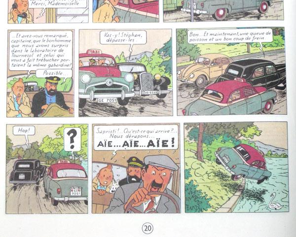 Les voitures de Tintin, la Citroën 15/6 P2010