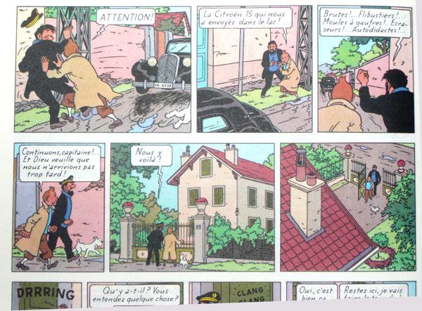 Les voitures de Tintin, la Citroën 15/6 P2210