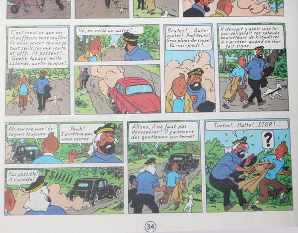 Les voitures de Tintin, la Citroën 15/6 P3410