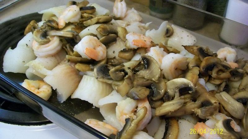 Filets de sole aux champignons et crevettes Cuisin11