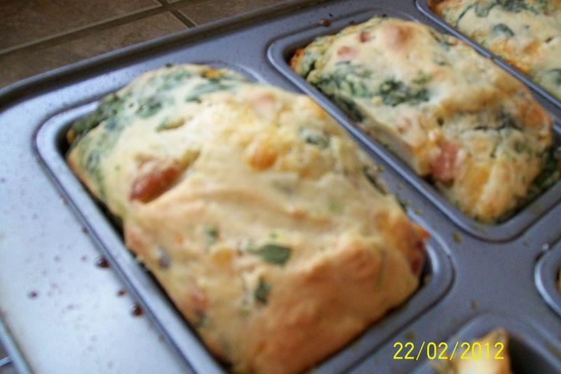Muffins aux épinards,jambon et fromage Denise14