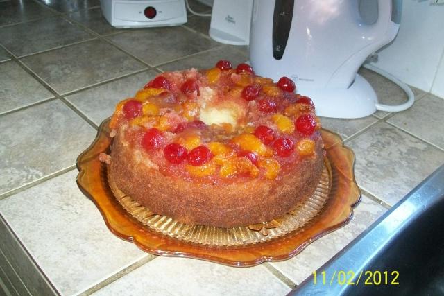 Gâteau renversé aux mandarines Janvie22