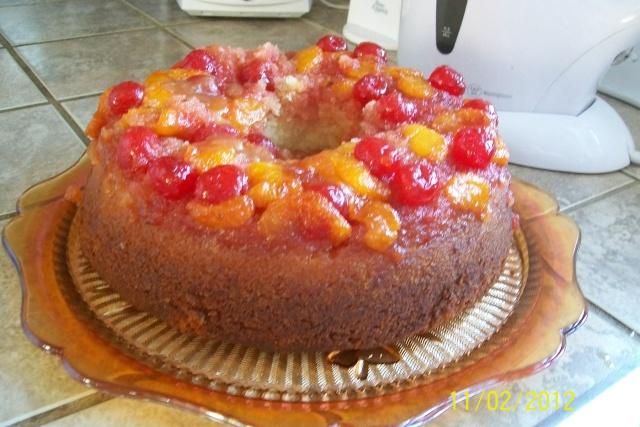 Gâteau renversé aux mandarines Janvie23