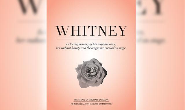 Tributo a Whitney Houston da parte dell'Estate di MJ Whitne10