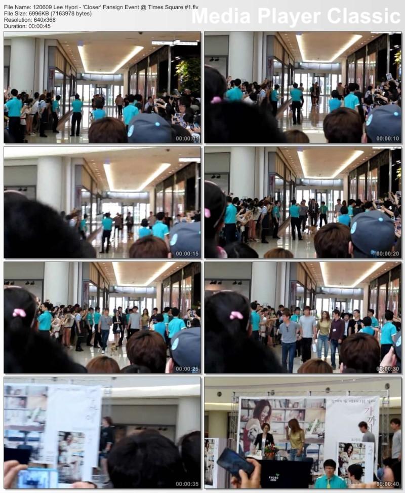 [120609] Hyori - 'Closer' Fansign Event @ Times Square  12060910
