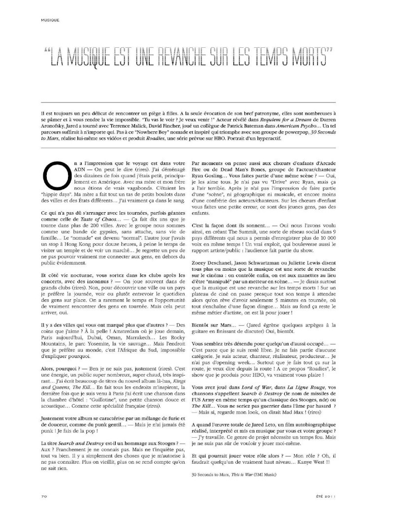 Jared Leto dans Blast magazine T1311510