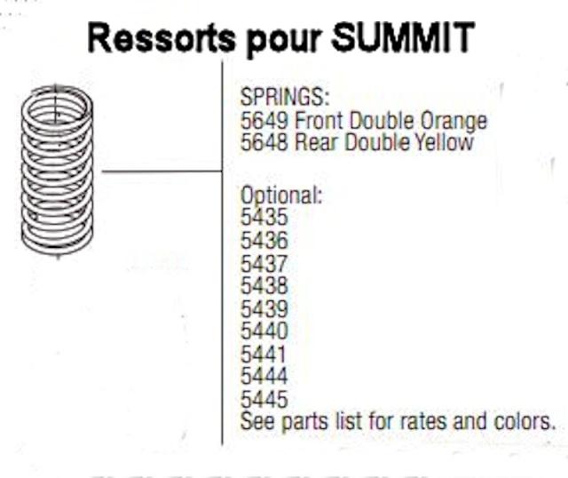 Réglage des amortisseurs/suspensions Summit 1/8 Ressor12