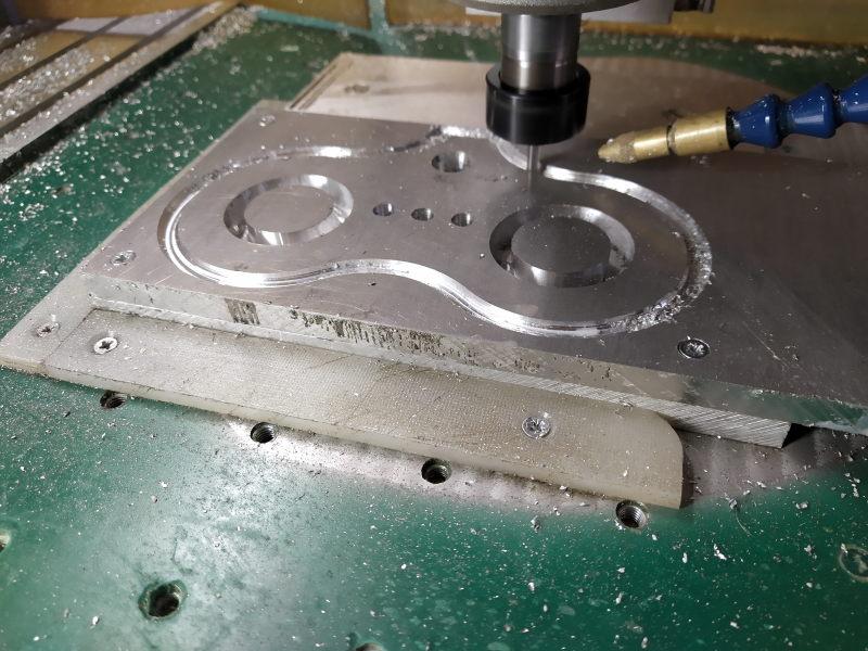 CNC Une tête de fourche de moto (à bascule) - Alu 10 mm Bride_12
