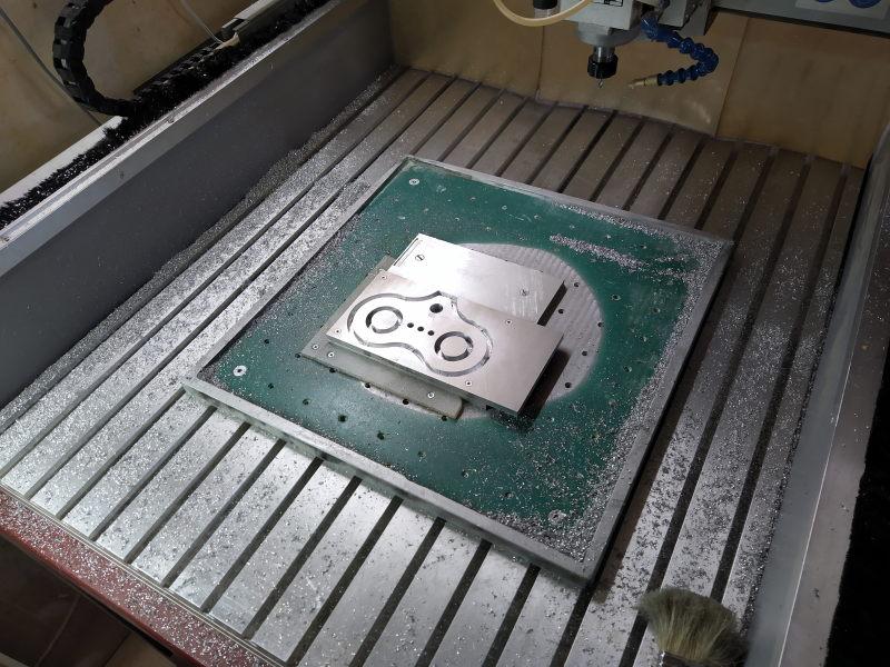 CNC Une tête de fourche de moto (à bascule) - Alu 10 mm Bride_13