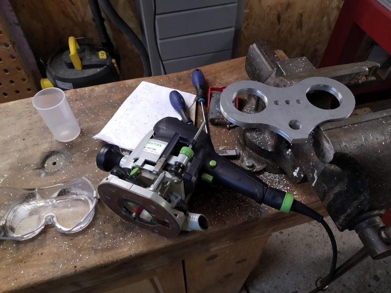 CNC Une tête de fourche de moto (à bascule) - Alu 10 mm Bride_19