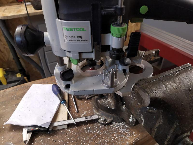 CNC Une tête de fourche de moto (à bascule) - Alu 10 mm Bride_23