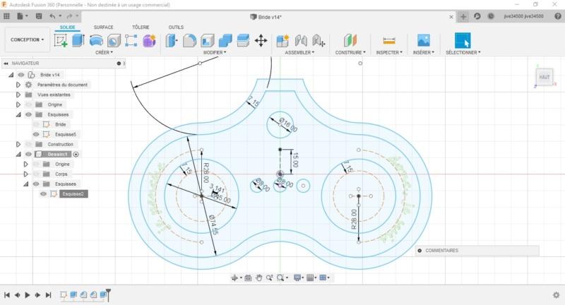 CNC Une tête de fourche de moto (à bascule) - Alu 10 mm Bride_31