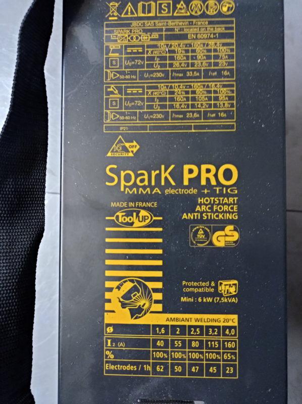 [VENDU] Poste soudure Inverter Spark Pro MMA - TIG  160 A Img_2159