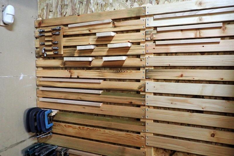 Aménagements dans l'atelier : isolation et rangement mural P3181314
