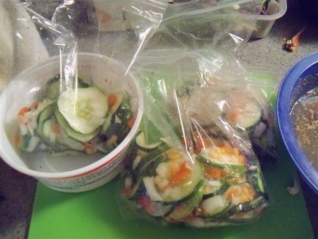Freezer Pickles 09-19-12