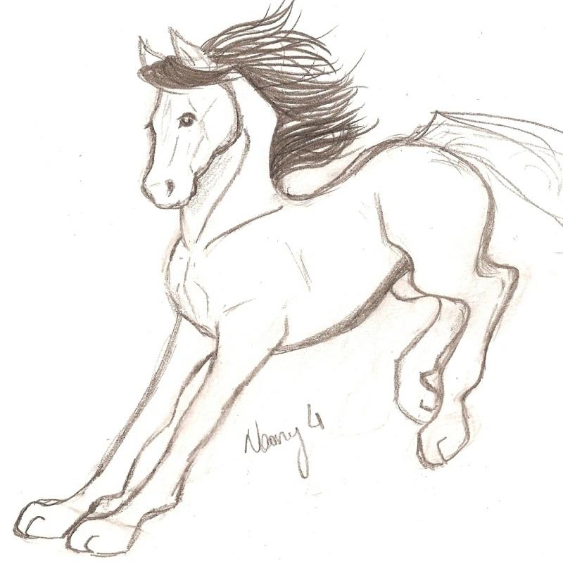cheval mutant. J'ai déjà dessiné cette pose. [noony4] Numar103