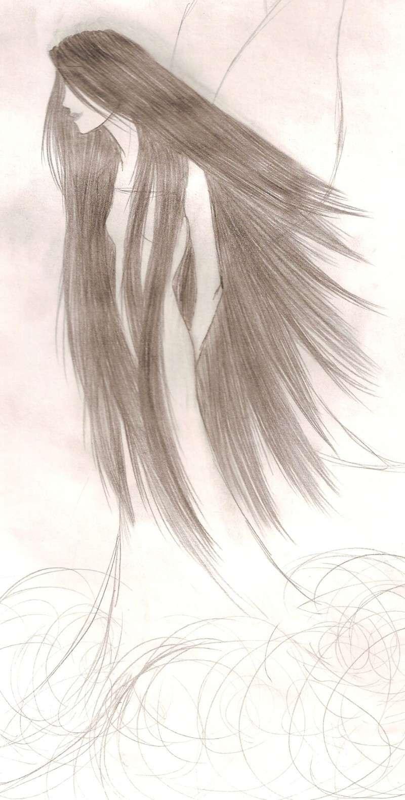Une nana avec des ailes et puis des longs cheveux ^^ Numari17