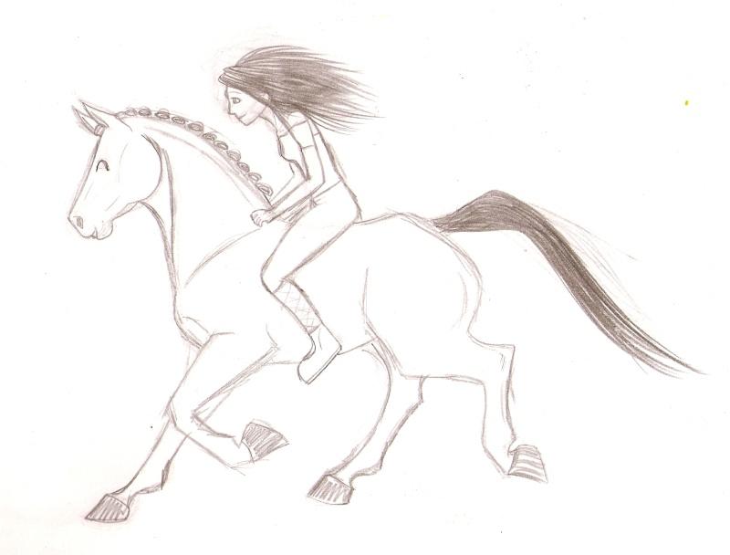 Un cheval et sa cavalière [noony4] Numari36