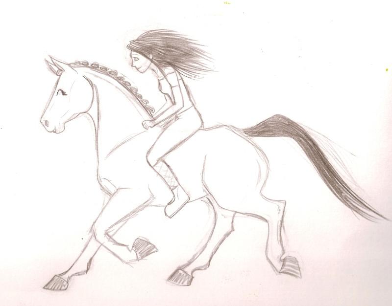 Un cheval et sa cavalière [noony4] Numari37