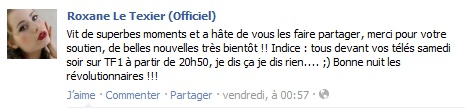 Messages de Roxane sur Facebook [MAJ 04.09] Stat1310